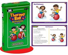 Therapy Ball Activities Fun Deck Cards  Super Duper Educational Learning Toy for Kids ** Check this awesome product by going to the link at the image.Note:It is affiliate link to Amazon.