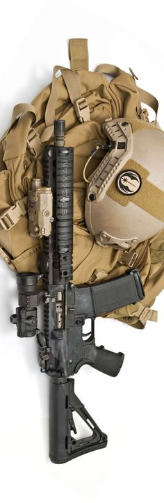 Knight's Armament Company and Tactical Tailor along with an Opscore helmet. By Stickman.