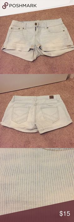 American Eagle shorts AE shorts. A super light wash with faded white pinstripes. American Eagle Outfitters Shorts Jean Shorts