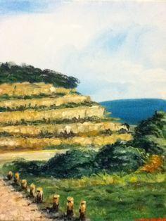 acrylic landscape