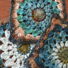 Kata crocheted squares by Penny Davidson
