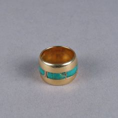 Vintage gold & turquoise