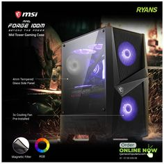 Gaming Desktop Case, Pc Components, Side Window, 100m, Computer Accessories, The Expanse, 1 Year, Tower, Rook