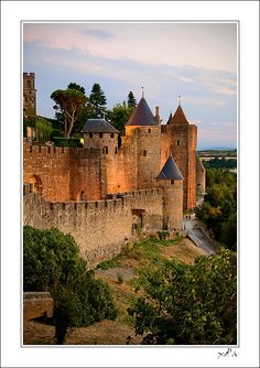 Carcassonne, Ancient Fortified City. France. The cobblestone paths are still vivid in my memory. B.