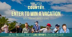 Enter the Wide Open Country Crash My Playa Giveaway to win an all-inclusive trip to Mexico to see Luke Bryan and more!