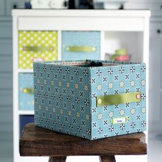 Quick and easy to make storage box. Dress up your cabinet with a coordinated fabric covered storage box.