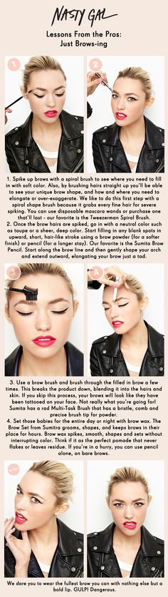 Just Brows-ing. love a good brow tute! Eyebrow Beauty, Beauty Makeup, Hair Makeup, Hair Beauty, Beauty Secrets, Beauty Tips, Beauty Hacks, Full Brows, Eye Brows