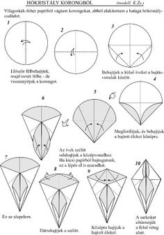 Origami simple - Picture Gallery - Diagrams - Little Christmas great Christmas - a description of Snow Crystals, 1
