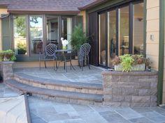 Paver Patio with coffee table Patio, Coffee, Outdoor Decor, Table, Home Decor, Kaffee, Homemade Home Decor, Yard, Porch