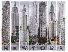 nyc architecture   New York Architecture 7er Bilder Set von Kare Design bei SalesFever.de