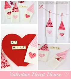 Valentine Heart House to store a chocolate or love message, from A Spoonful of Sugar