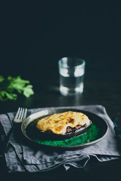 """""""Papoutsakia""""- Beef Stuffed Eggplants- use low-fat creme fraiche and grated parmesan cheese instead of bechamel"""
