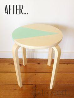 画像 : 素敵な【IKEA Hack】丸椅子スツールFROSTA のリメイク法【DIY】【インテリア】 - NAVER まとめ
