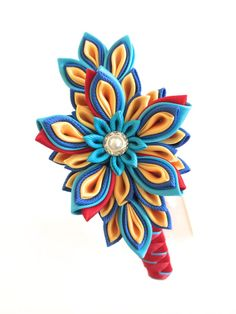 Hey, I found this really awesome Etsy listing at https://www.etsy.com/listing/161362484/handmade-girl-headband-kanzashi-headband