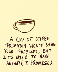 Coffee may not always be able to solve your problems, but it sure does help! #Coffee #MrCoffee