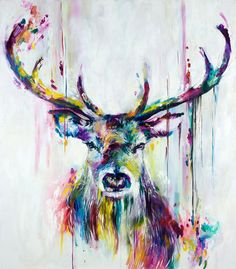 Prism Stag by Katy Jade Dobson is a signed limited edition print. Other prints and originals by Katy Jade Dobson are available from Rennies Gallery.