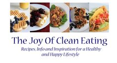 Welcome to The Joy of Clean Eating! Here you will find all the info you need to live a healthy Clean Eating lifestyle. All our recipes are CLEAN and taste tested. You will not find any processed chemicals or ingredients. Whole Food Recipes, Healthy Recipes, Healthy Meals, Yummy Recipes, Free Recipes, Eat Healthy, Tapas, Whole Foods, Clean Eating Recipes