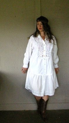 Eco upcycled clothing Romantic Artsy dress by lillienoradrygoods, $89.50