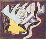 Frank Stella - A HUNGRY CAT ATE UP THE GOAT, 1982