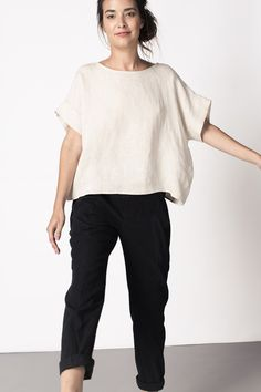 Georgia Tee - but I'd need to add a necklace and/or some earrings - possibly statement if I only go for one of the two Ethical Fashion, Slow Fashion, Mode Style, Style Me, Quoi Porter, Minimalist Fashion, Capsule Wardrobe, What To Wear, Street Style