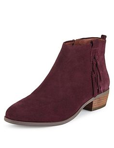 Suede ankle boots M&S £65