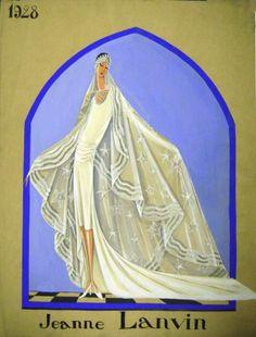 Robe de mariée, 1928 © Patrimoine Lanvin. #Lanvin125