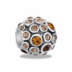 Amber Ornate Orb Bead by DaVinci