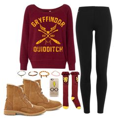 """""""I love Harry Potter ! <3"""" by madihahnas ❤ liked on Polyvore featuring Polo Ralph Lauren, UGG and Casetify"""