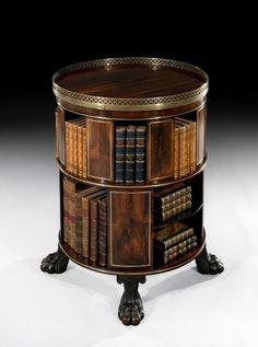 Regency Circular Bookcase. Ca. 1820, England