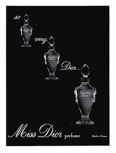 1964 AD Christian Dior French Miss Dior Made in France Perfume Illustration Ad