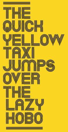 Taxi font by Patrick Seymour, via Behance