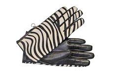 Maya Copenhagen skindfingerhandsker sort med zebraeffekt - køb dem i Guldknappen