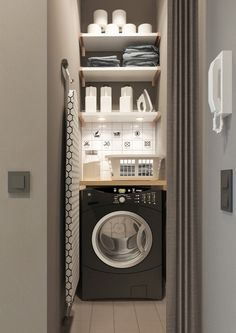50 Cool Small Laundry Room Design Ideas December Leave a Comment Every family home needs a laundry room, but not all homes have enough space for one. But not all laundry rooms need a lot of space! A laundry just needs to be functional Apartment Room, Small Apartment Modern, Room Design, Cheap Home Decor, Tiny Laundry Rooms, Utility Cupboard, Utility Rooms, Vintage Laundry Room, Modern Apartment