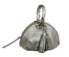 Christian Audigier Womens Cherie Baguette Handbag 3UV158RE-silver  List Price: $150.00 Buy Now: $29.99