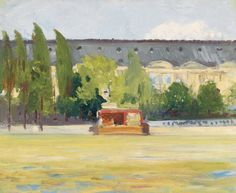 Louvre and Boat Landing: 1907 by Edward Hopper (Whitney Museum of American Art, NYC) - American Realism Robert Rauschenberg, American Realism, American Artists, Manet, Toulouse, Hooper Edward, David Hockney, Edward Hopper Paintings, New York City