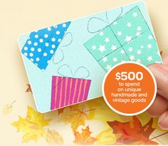 11/30/15 Enter to #Win $500 in Etsy Gift Cards! #Giveaway #Recipes #Cooking #Crafts http://www.silk.com/signup?r=WLYK742V3Y