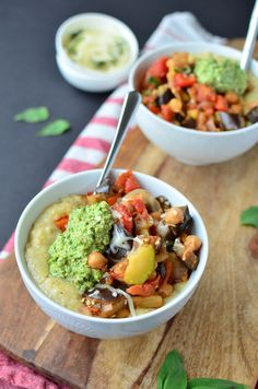 Summer Vegetable Polenta Bowls recipe - Delicious Knowledge