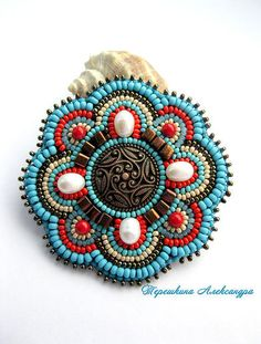 58 Ideas For Embroidery Patterns Love Coloring Bead Embroidery Tutorial, Bead Embroidery Jewelry, Hand Embroidery Designs, Beaded Embroidery, Embroidery Patterns, Beaded Brooch, Beaded Earrings, Beaded Jewelry, Beaded Bracelets