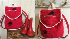 How cute is this backpack? Kate Eastwood has created a miniature version of her gorgeous backpack for the little people in your life! - Free Crochet Pattern