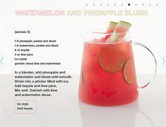 adoro refrescos no verão, este de melancia e ananás :)