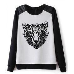 Sueter Estampa Tigre Suéters e Moletons