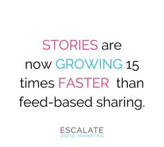 "Social Media ""Stories"" such as the ones on Instagram / Facebook are set to surpass feeds as the primary way people share things with their friends within the next year 😲  Stories feel real, immediate, and intensely personal.  Experiment with stories; use creative features, add to Highlights, create interesting designs that entice your consumer to visit your page and hopefully even your website/business Online Marketing Agency, Digital Marketing, Dublin City, Business Website, Experiment, Highlights, Cool Designs, Social Media, Facebook"