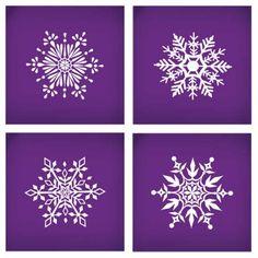 Ornate Snowflakes Set of Four Mesh Stencils