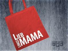 """Lieblingsmama"" | Jutebeutel | rot von shirtandprint auf DaWanda.com"