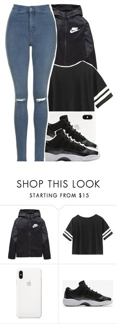 """School Day"" by fam0us-e ❤ liked on Polyvore featuring NIKE and Topshop"