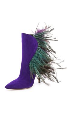 Paul Andrew Asteria Suede Feather Boots in Purple (Ultraviolet) | Lyst