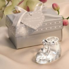 FREE SHIPPING++Choice Crystal Collection Crystal Baby Bootie Keepsakes Baby Birthday Gift Crystal Shoes Favors #Affiliate