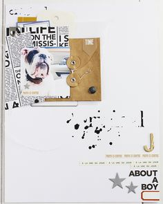 """Lovely scrapbook inspo. But for a real person. I have plenty of scrapbook pages to do """"About a Boy"""".."""