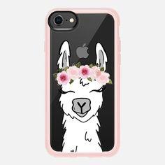 Floral Crown Llama - Snap Case
