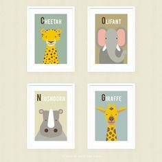 Posterset Afrikaanse Dieren 2